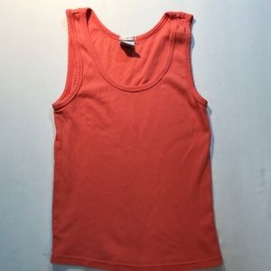 Old Navy perfect fit orange tank top size m $